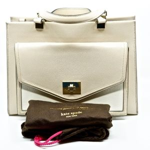 KATE SPADE~chantelle walter place~LEATHER TOTE BAG